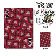 Digital Raspberry Pink Colorful  Playing Cards 54 Designs