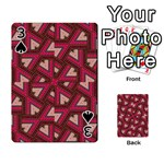 Digital Raspberry Pink Colorful  Playing Cards 54 Designs  Front - Spade3