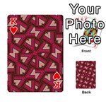 Digital Raspberry Pink Colorful  Playing Cards 54 Designs  Front - HeartK