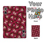 Digital Raspberry Pink Colorful  Playing Cards 54 Designs  Front - Club10