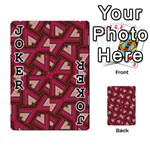 Digital Raspberry Pink Colorful  Playing Cards 54 Designs  Front - Joker1