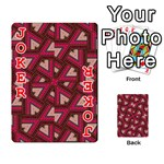 Digital Raspberry Pink Colorful  Playing Cards 54 Designs  Front - Joker2