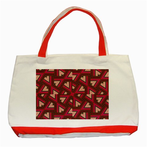 Digital Raspberry Pink Colorful  Classic Tote Bag (Red)
