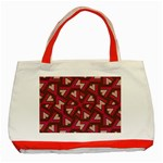 Digital Raspberry Pink Colorful  Classic Tote Bag (Red) Front