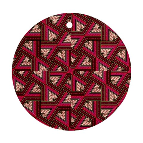 Digital Raspberry Pink Colorful  Round Ornament (Two Sides)