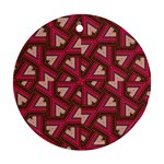 Digital Raspberry Pink Colorful  Round Ornament (Two Sides)  Back