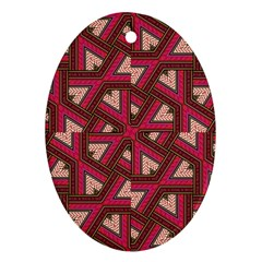 Digital Raspberry Pink Colorful  Oval Ornament (Two Sides)