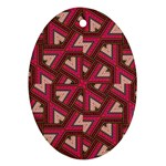 Digital Raspberry Pink Colorful  Oval Ornament (Two Sides) Back