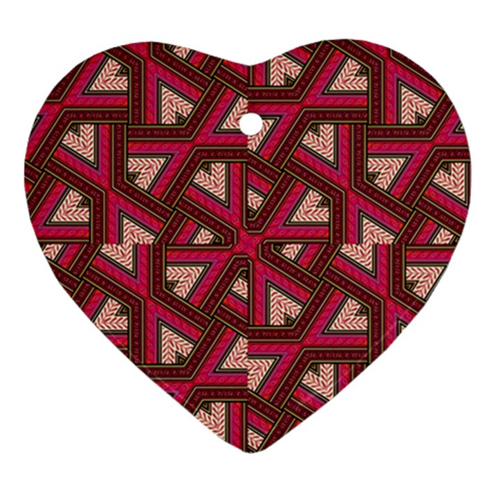 Digital Raspberry Pink Colorful  Heart Ornament (2 Sides)