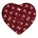Digital Raspberry Pink Colorful  Heart Ornament (2 Sides) Back