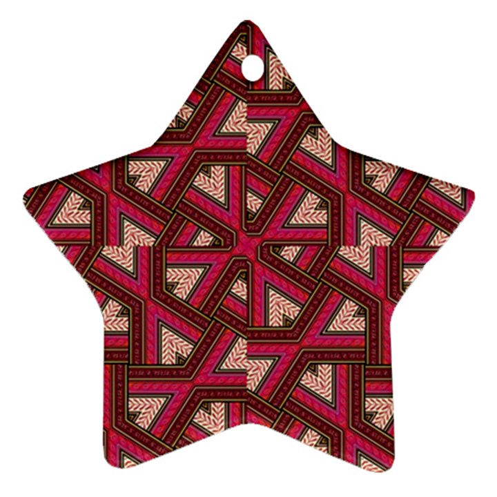 Digital Raspberry Pink Colorful  Star Ornament (Two Sides)