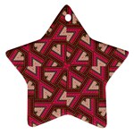Digital Raspberry Pink Colorful  Star Ornament (Two Sides)  Back