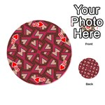 Digital Raspberry Pink Colorful  Playing Cards 54 (Round)  Front - Heart5