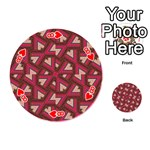 Digital Raspberry Pink Colorful  Playing Cards 54 (Round)  Front - Heart8
