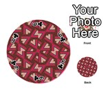 Digital Raspberry Pink Colorful  Playing Cards 54 (Round)  Front - Club6