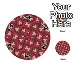 Digital Raspberry Pink Colorful  Playing Cards 54 (Round)  Front - Club8