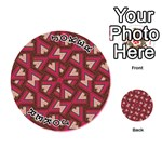 Digital Raspberry Pink Colorful  Playing Cards 54 (Round)  Front - Joker1