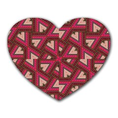 Digital Raspberry Pink Colorful  Heart Mousepads