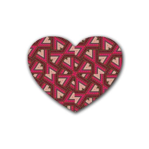 Digital Raspberry Pink Colorful  Heart Coaster (4 pack)