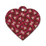 Digital Raspberry Pink Colorful  Dog Tag Heart (Two Sides) Front