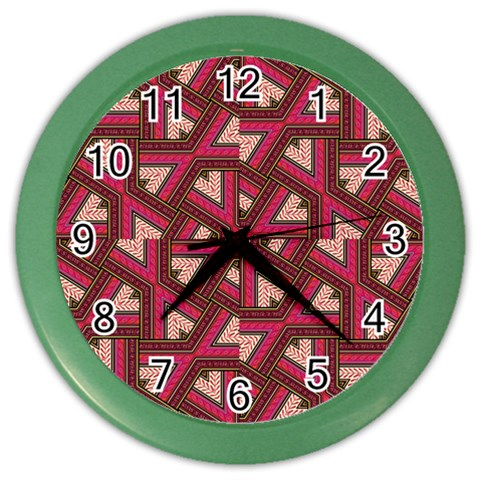 Digital Raspberry Pink Colorful  Color Wall Clocks
