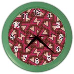Digital Raspberry Pink Colorful  Color Wall Clocks Front