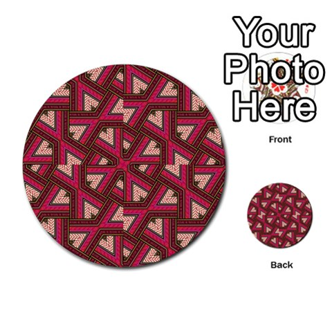 Digital Raspberry Pink Colorful  Multi-purpose Cards (Round)