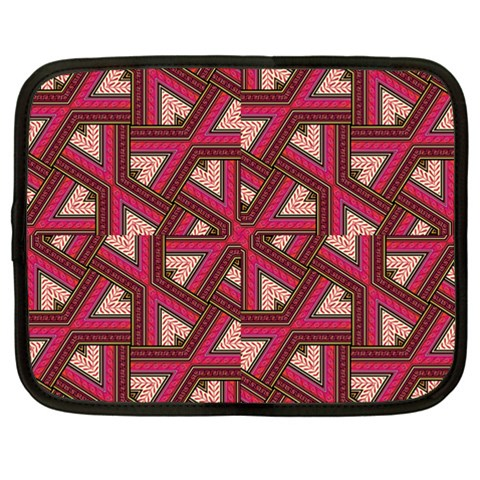 Digital Raspberry Pink Colorful  Netbook Case (Large)