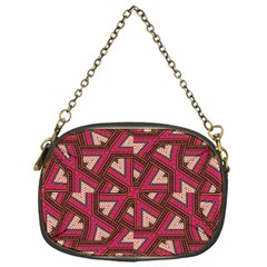 Digital Raspberry Pink Colorful  Chain Purses (One Side)