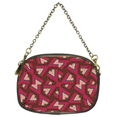 Digital Raspberry Pink Colorful  Chain Purses (Two Sides)