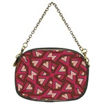 Digital Raspberry Pink Colorful  Chain Purses (Two Sides)  Back