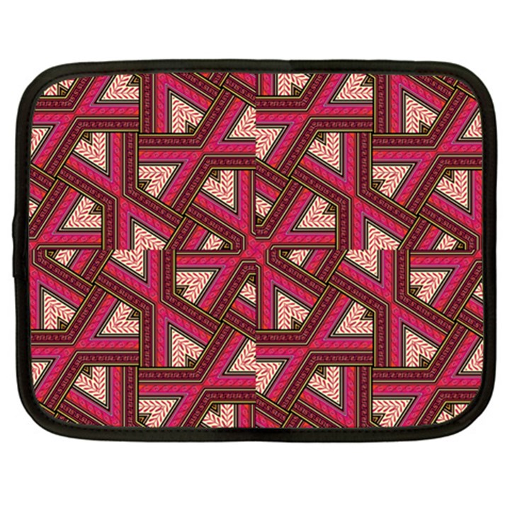 Digital Raspberry Pink Colorful  Netbook Case (XXL)