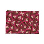 Digital Raspberry Pink Colorful  Cosmetic Bag (Large)  Front
