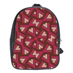 Digital Raspberry Pink Colorful  School Bags(Large)  Front