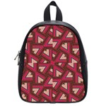 Digital Raspberry Pink Colorful  School Bags (Small)  Front