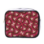 Digital Raspberry Pink Colorful  Mini Toiletries Bags Front