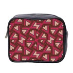 Digital Raspberry Pink Colorful  Mini Toiletries Bag 2-Side Front