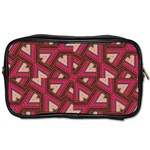Digital Raspberry Pink Colorful  Toiletries Bags Front