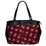Digital Raspberry Pink Colorful  Office Handbags Front