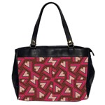 Digital Raspberry Pink Colorful  Office Handbags (2 Sides)  Front