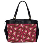 Digital Raspberry Pink Colorful  Office Handbags (2 Sides)  Back