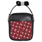 Digital Raspberry Pink Colorful  Girls Sling Bags Front