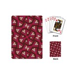 Digital Raspberry Pink Colorful  Playing Cards (Mini)  Back