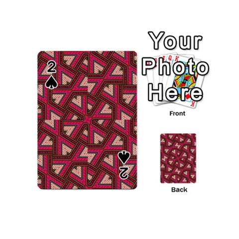 Digital Raspberry Pink Colorful  Playing Cards 54 (Mini)