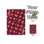 Digital Raspberry Pink Colorful  Playing Cards 54 (Mini)  Front - Diamond7