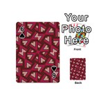 Digital Raspberry Pink Colorful  Playing Cards 54 (Mini)  Front - Spade6