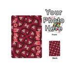 Digital Raspberry Pink Colorful  Playing Cards 54 (Mini)  Front - Joker2