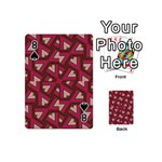Digital Raspberry Pink Colorful  Playing Cards 54 (Mini)  Front - Spade8