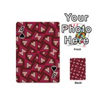 Digital Raspberry Pink Colorful  Playing Cards 54 (Mini)  Front - SpadeJ