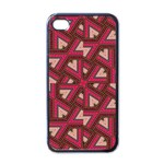 Digital Raspberry Pink Colorful  Apple iPhone 4 Case (Black) Front